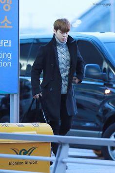 141219- BTS Park Jimin @ Incheon Airport  #bts #bangtanboys #fashion #style #korean