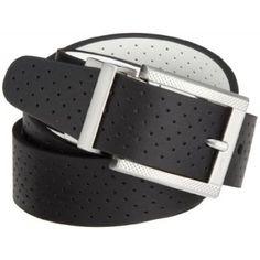 333942ef66b1 NIKE Golf Perforated Reversible Belt (Black White