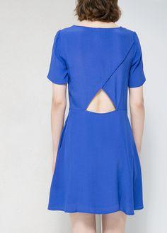 Cut-out back dress