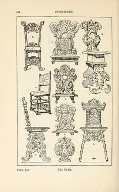 A handbook of ornament; furniture the chair page 424