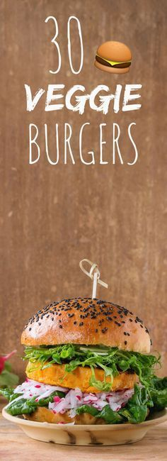 With coral lentils, quinoa, red beans: 30 recipes of burgers ve . Burger Recipes, Veggie Recipes, Vegetarian Recipes, Healthy Recipes, Hamburger Vegetarien, Vegetarian Steak, Lentils And Quinoa, Delicious Burgers, Recipe 30