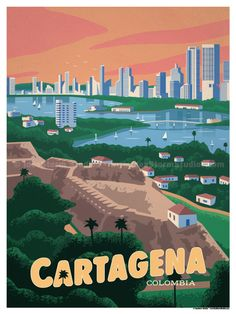 Travel Posters - South American Hubs by IdeaStorm Studio Store National Park Posters, National Parks, Virgin Islands National Park, Beach Posters, Room Posters, Colombia Travel, Mexico Travel, London Poster, Thailand Travel