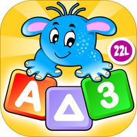 """Preschool All In One Basic Skills Space Learning Adventure A to Z by Abby Monkey® Kids Clubhouse Games by 22learn, LLC.  Comment by BLW:  This """"space themed"""" app teaches math and reading readiness skills.  I highly recommend purchasing this educational app for $3.99.  It is very engaging and user friendly for the Pre-K students.  They love this app!:)"""