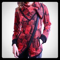 Joseph Ribkoff Jacket in Blk/White J.R Zip Jacket!                                                             65% Cotton 33% Polyester 2% Spandex Joseph Ribkoff Sweaters