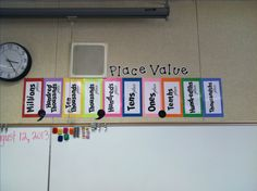 Place value poster Math 5, Guided Math, Teaching Math, Math Teacher, Teaching Ideas, Math Literacy, Teacher Stuff, Place Value Chart, Math Place Value