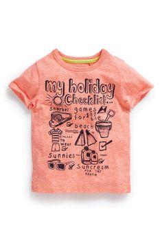 Comprar feriado T-shirt Checklist (3mths-6yrs) a partir da próxima loja online Reino Unido