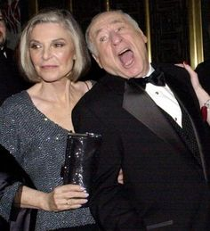"""Anne Bancroft and Mel Brooks. They did such beautiful work together. In fact, """"To Be or Not To Be"""" is one of my favorite movies! Famous Couples, Famous Women, Hollywood Actor, Old Hollywood, Classic Hollywood, Celebrity Couples, Celebrity Photos, The Miracle Worker, Lee Strasberg"""