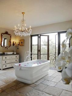 Bath with a view! Bathroom Design Ideas I Bathroom Decor I Bathroom Interiors I Bathroom Inspo I Dream Bathroom I Interiors I Home Decor I Home Design Spa Bathroom Design, House Design, Interior, Home, Beautiful Bathroom Designs, Relaxing Bathroom, Romantic Bathrooms, House Interior, Beautiful Bathrooms