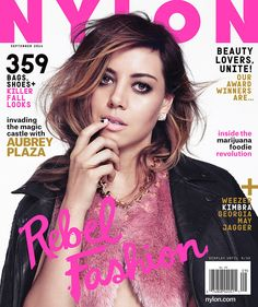 aubrey plaza, september 2014: http://shop.nylon.com/collections/whats-new/products/aubrey-plaza-september-2014 #NYLONshop
