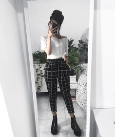 23 Plaid Pants Outfit - 23 Plaid Pants Outfit Source by shellyredmonfashioideas - Lazy Outfits, Hipster Outfits, Mode Outfits, Retro Outfits, Vintage Outfits, Summer Outfits, Girl Outfits, Casual Outfits, Fashion Outfits