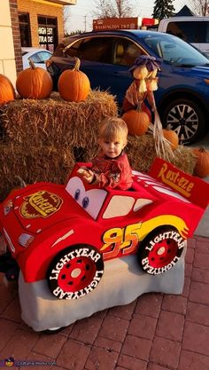 Lightening McQueen - 2019 Halloween Costume Contest Lightening Mcqueen, Costume Works, Halloween Costume Contest, Boy Costumes, Masons, Handmade Felt, Carrie, Making Out, Fit