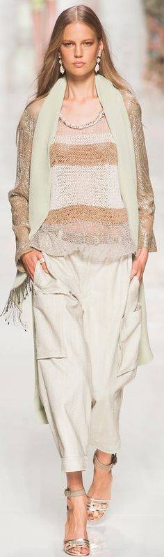 Etro Spring 2014 | The House of Beccaria - soft, subtle, and very feminine.