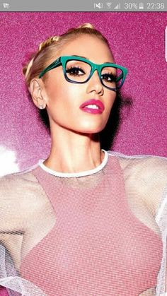 Gwen stefani. Glasses!! Gx collection.