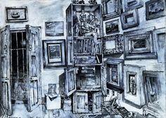 Studio, San Miguel de Allende, Mexico Brush and watercolr, 13in. by 10in.