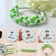 Technique de fabriquer un bracelet kumihimo - Idées créatives de bijoux Micro Macrame, Zen, Diy Crafts, Couture, Beads, Patterns, How To Make, Handmade, Jewelry
