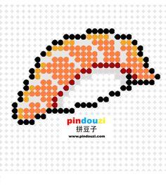 Salmon sushi perler bead pattern