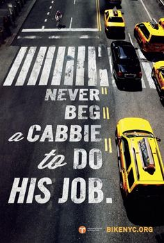 Bike NYC and Transportation Alternatives recently commissioned creative agency, Mother New York, to produce an advertising campaign to. Typography Quotes, Typography Design, Bold Typography, Ad Design, Print Design, Type Design, Guide New York, Logos Retro, Voyage New York