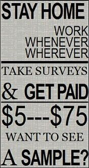 Paid Surveys At Home  unrealistic payments to take surveys