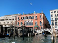 Approaching the historic Hotel Danieli for his first stay in Venice.