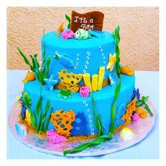 Under The Sea Themed Baby Shower: Octopi Cake Pops | Krafty Kate/Handy Andy