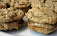 Healthy Peanut Butter Sandwich Cookie - chewy oatmeal cookie coupled with the creamy peanut butter and mashed banana mixture