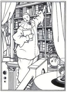 Pierrot's Library by Aubrey Beardsley
