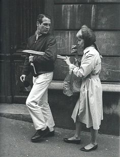 Paul Newman and Joanne Woodward  Paris - rue Lepic  1960  Philippe Le Tellier