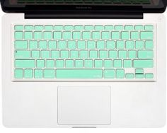 "Mint GREEN Keyboard Cover Silicone Skin for MacBook Pro 13"" 15"" 17"" (with or w/out Retina Display) iMac and MacBook Air 13"""