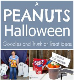 I love the Peanuts gang! Great ideas for Halloween Treats and Trunk or Treat