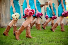 bouquets and cowboy boots. This WILL happen at my wedding