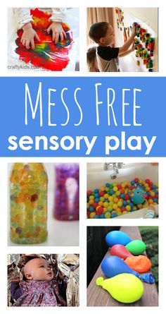 No mess sensory play activities for babies, toddlers, preschool