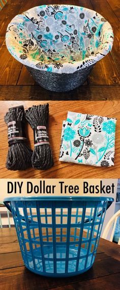 DIY Dollar Tree Basket #dollartree #diy #diyproject #homedecor #homeorganization