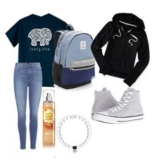 """""""goals🙃"""" by madelynnnnnnnne on Polyvore featuring Paige Denim, Victoria's Secret, Converse and Aéropostale"""