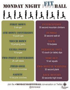 Monday Night Football exercise fitness game #MondayNightFitball @stoneweardesigns