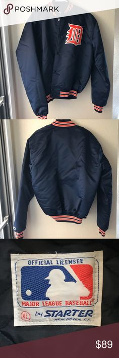 Vintage Detroit Tigers Starter Bomber Jacket Vintage Detroit Tigers Starter Bomber Jacket Size XL Excellent Condition   Thank You for looking and Please check out my closet STARTER Jackets & Coats