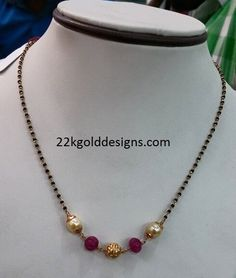 Light Weight Black beads Designs Light Weight Gold Jewellery, Gold Jewelry Simple, Gold Chain Design, Gold Ring Designs, Gold Mangalsutra Designs, Gold Models, Bead Jewellery, Evans, Bangle