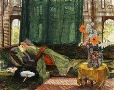 John Frederick Lewis (English, 1804-1876) The Siesta, 1876