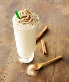 Secret Starbucks Menu: Horchata Frappuccino!! Mmmm! Recipe for a grande:    -Tazo Chai Creme Frappuccino  -1 pump of vanilla syrup  -2 pumps of cinnamon dolce syrup  -3 pumps of Chai  -Cinnamon dusted on top