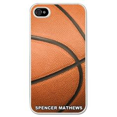 Basketball iPhone/Galaxy S3 Case Basketball Graphic - This customizable protective case is the perfect accessory for any basketball player's phone. This great Cell Phone Case fits the iPhone 4, iPhone 4S, iPhone 5 and Samsung Galaxy S3.