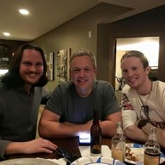 Tim Foust, producer Darren Rust, and Austin Brown