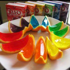Jelly Orange Segments.. Fun idea for kids.