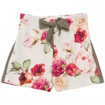 Shorts marocain floreale
