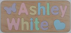 Personalized Wooden Two Names Puzzle  by JandPWoodProducts on Etsy, $26.95