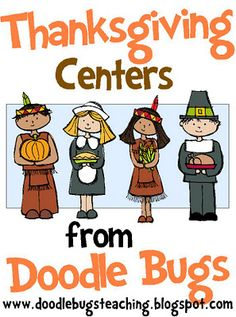Thanksgiving Math & Literacy Centers Kindergarten First Second Kindergarten Centers, Math Literacy, Classroom Activities, Classroom Ideas, Literacy Centers, Kindergarten Classroom, Preschool Class, Math Stations, Learning Centers