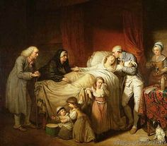 Pierre Alexandre Wille - The Last Moments of the Beloved Wife, 1784