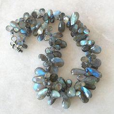 labradorite and blue sapphire necklace