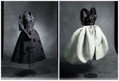 dos modelos de Cristóbal Balenciaga Foto de Outumuro