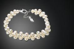 Sterling Silver & Pearl Cluster Bracelet