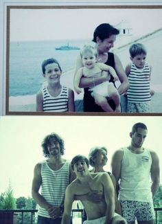 Great family protrait before-after