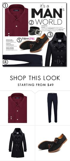 """NewChic"" by konstadinagee ❤ liked on Polyvore featuring Chaps, Topman, men's fashion and menswear"